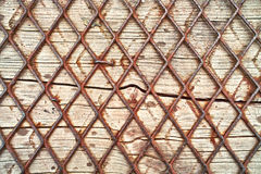 Wood and wire background Royalty Free Stock Photos