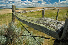 Wood and Wire Fence Stock Photo