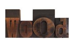 Wood, word written in vintage printing blocks Stock Photo