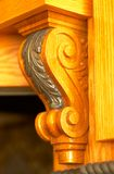 Wood work: Floral design. Royalty Free Stock Images