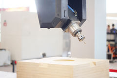 Wood-working boring machine Royalty Free Stock Photo