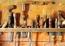Wood Working Or Carpenter's Tools Royalty Free Stock Image