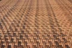 Wood woven table. Close up of a wood woven coffe table Stock Photos