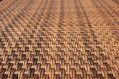 Wood woven table Stock Photos