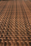 Wood woven table. Close up of a wood woven coffe table Royalty Free Stock Photography