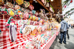 Wooda stall with candies Stock Photo