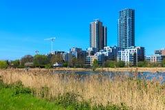 Woodberry våtmark i London Arkivbild