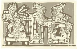 woodblock короля b майяское бесплатная иллюстрация