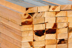 Woodblock. S at the construction site royalty free stock photos