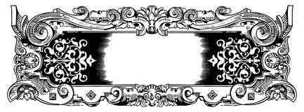 Woodblock style vintage frame Royalty Free Stock Images