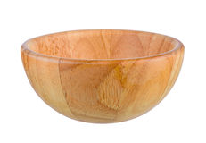 Woodbowl a isolé image stock