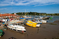 Woodbridge in England, UK. Deben Yacht Club in Woodbridge, River Deben, Suffolk, East Anglia, England, UK stock photo