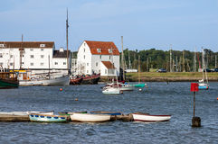 Woodbridge in England, UK. Woodbridge Tide Mill, River Deben,  Suffolk, East Anglia, England, UK Royalty Free Stock Photo