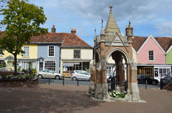 Woodbridge Market Square and Pump. Royalty Free Stock Photos