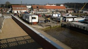 Woodbridge town waterfront stock video