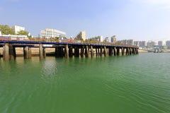 The woodbridge of xiamen wuyuan bay marina Stock Photo