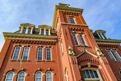 Woodburn Hall at West Virginia University. The iconic Woodburn Hall on the campus of West Virginia University, known as WVU, in Morgantown, West Virginia royalty free stock photos