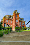 Woodburn Hall at West Virginia University. The iconic Woodburn Hall on the campus of West Virginia University, known as WVU, in Morgantown, West Virginia royalty free stock images
