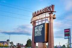 Woodburn Premium Outlets. Name brand shopping at discounted prices in Woodburn Oregon stock photos