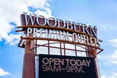 Woodburn Premium Outlets. Name brand shopping at discounted prices in Woodburn Oregon stock photography