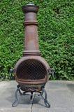 Woodburner del patio Imagen de archivo libre de regalías