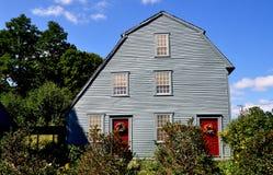 Woodbury, CT :1750 Glebe议院 库存照片