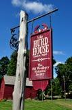 Woodbury, CT: C Дом 1680 Hurd Стоковое Изображение RF