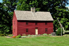 Woodbury CT: C Hurd House 1680 Arkivfoto