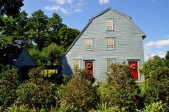 Woodbury, CT: 1750 Glebe-Huis Stock Afbeeldingen