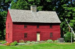 Woodbury CT: Hurd House 1680 Arkivbild
