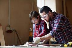 Woodcarve training Stock Photos