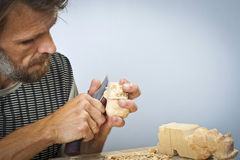 The woodcarver Stock Photos