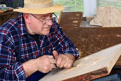 Woodcarver Stock Images