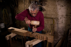 Woodcarver work in the workshop 2 Stock Image
