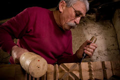 Woodcarver work in the workshop 8 Royalty Free Stock Image