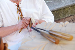 Woodcarvers artist stock photography
