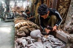 Woodcarving υπό εξέλιξη Στοκ Εικόνα