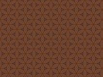 Woodcarving и картина геометрических форм на доске Стоковые Фото
