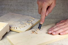 Woodcarving Stockbild
