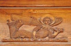 Woodcarving Armenia. Angel Royalty Free Stock Photo
