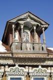 Casa di legno rustica russa delle fine del XIX secolo - un frammento Fotografia Stock