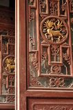 Woodcarving of chinese dragon Stock Photo