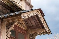 Woodcarving, dekoracyjny element ganeczek Zdjęcia Royalty Free