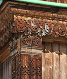 Woodcarving - detail of Orthodox Holy Trinity Cathedral in Karak Stock Image