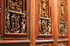 Woodcarving doors Royalty Free Stock Image