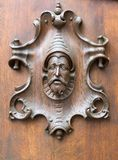 Woodcarving on the door Royalty Free Stock Photos