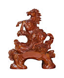 Woodcarving Horse Royalty Free Stock Photography