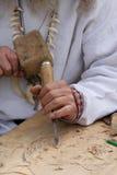 woodcarving mistrza. zdjęcia royalty free
