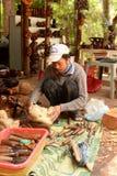 Woodcarving - national art, Vietnam Royalty Free Stock Photo