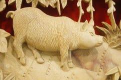 Woodcarving rękodzieło Zdjęcie Stock